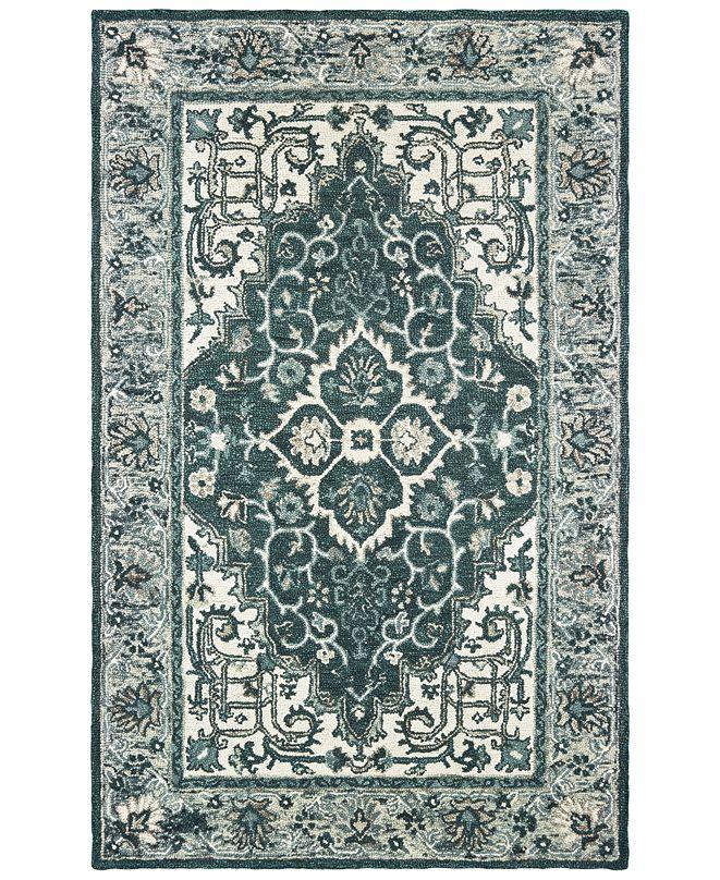 "Oriental Weavers Zahra 75506 Grey/Blue 3'6"" x 5'6"" Area Rug"