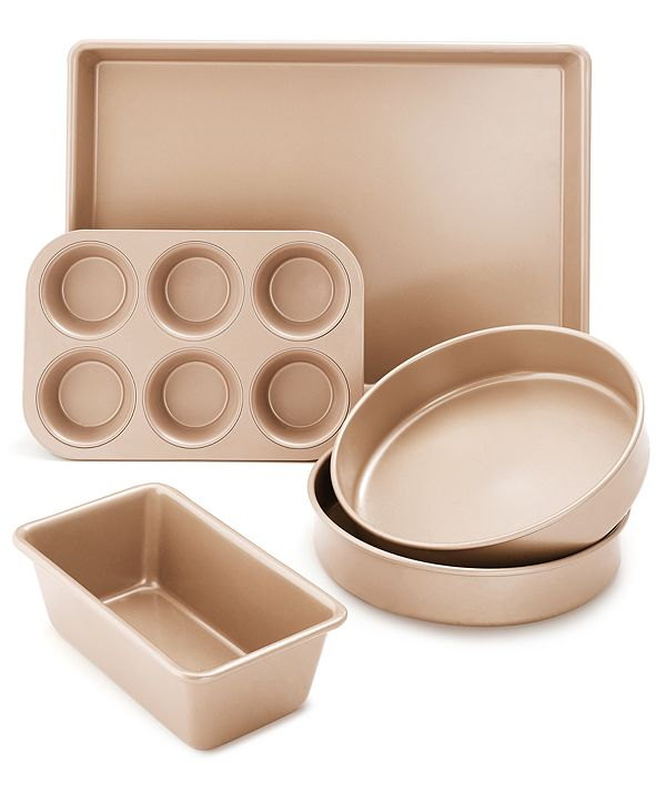 Martha Stewart Collection Nonstick Champagne 5-Pc. Bakeware Set, Created for Macy's