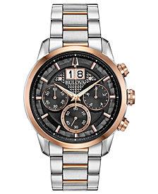 Bulova Men's Chronograph Sutton Two-Tone Stainless Steel Bracelet Watch 44mm