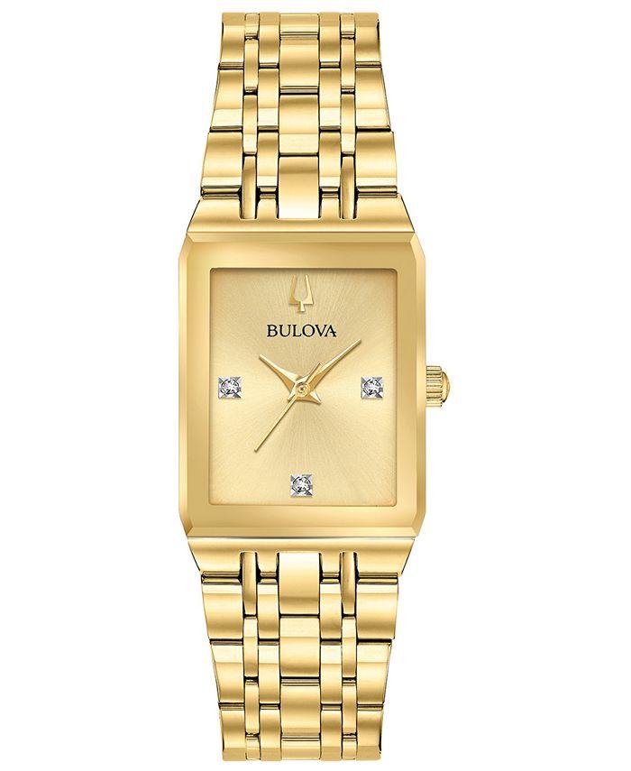 Bulova - Women's Futuro Diamond-Accent Gold-Tone Stainless Steel Bracelet Watch 20.5x31.5mm