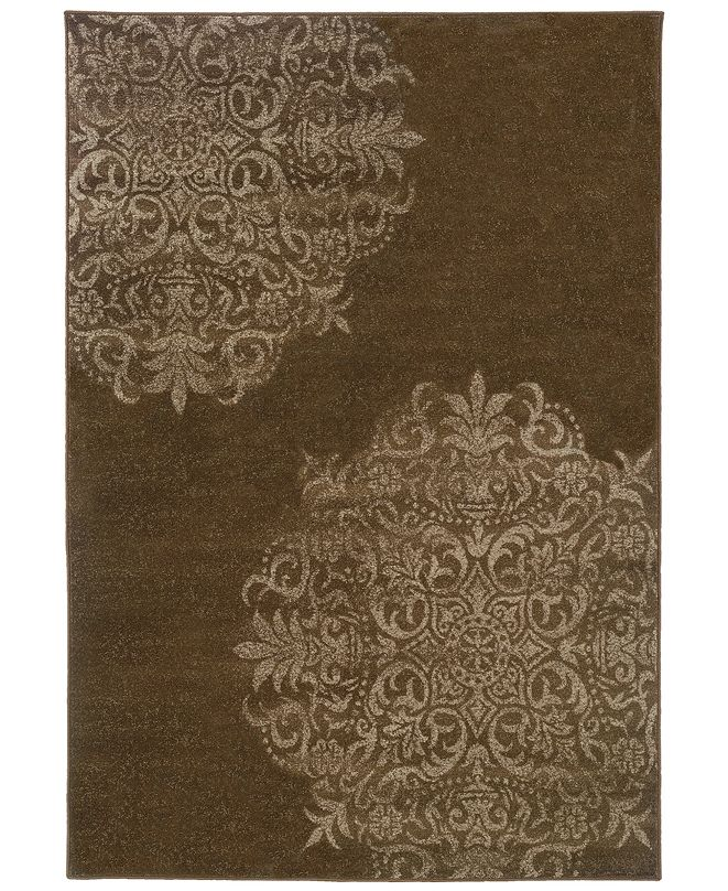 """Oriental Weavers CLOSEOUT!  Adrienne 4174D Brown/Stone 6'7"""" x 9'6"""" Area Rug"""