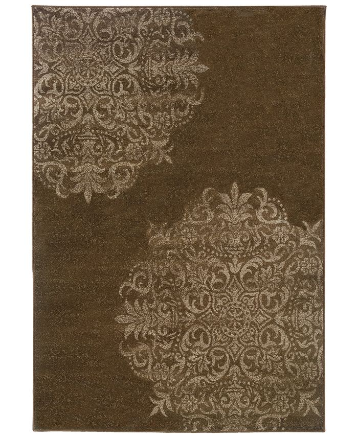 "Oriental Weavers - Adrienne 4174D Brown/Stone 7'10"" x 10'10"" Area Rug"