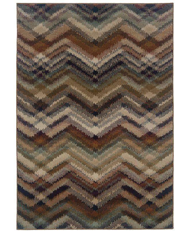 "Oriental Weavers CLOSEOUT!  Adrienne 4205C Multi/Beige 6'7"" x 9'6"" Area Rug"