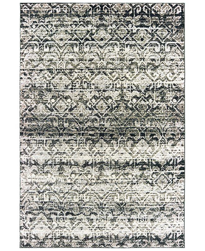"""Oriental Weavers Bowen 042H2 Gray/Ivory 9'10"""" x 12'10"""" Area Rug"""