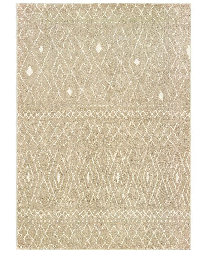 "Oriental Weavers Carson 9665B Sand/Ivory 9'10"" x 12'10"" Area Rug"