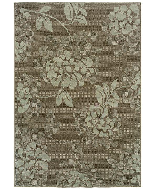 """Oriental Weavers Bali 4335B Gray/Blue 3'7"""" x 5'6"""" Indoor/Outdoor Area Rug"""