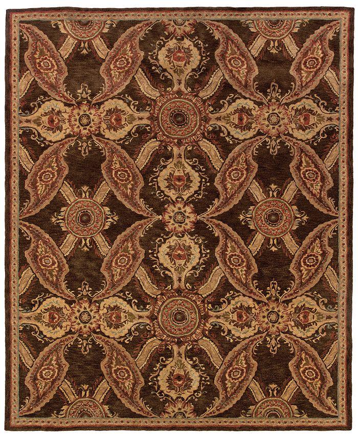 """Oriental Weavers - Huntley 19112 Brown/Rust 5'3"""" x 8'3"""" Area Rug"""
