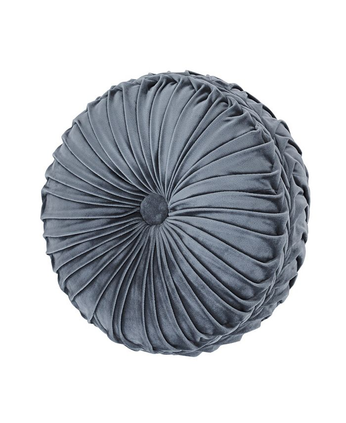 J Queen New York - Crystal Palace French Blue Tufted Round
