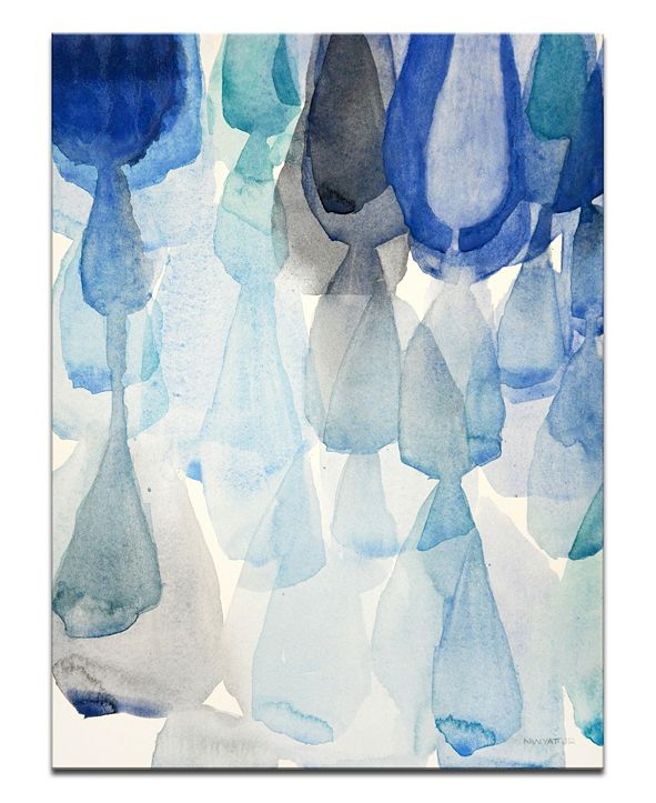 """Ready2HangArt 'Pouring Down' Canvas Wall Art, 30x20"""""""