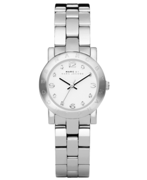 Marc by Marc Jacobs Watch, Women's Mini Amy Stainless Steel Bracelet 26mm MBM3055