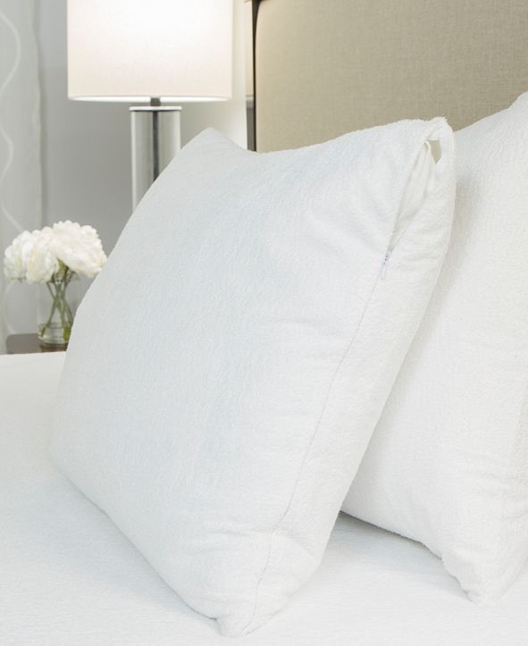 Protect-A-Bed King Premium Cotton Terry Pillow Protector