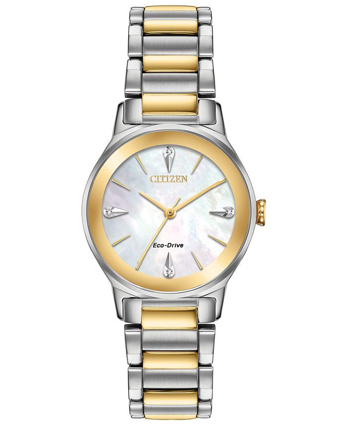 Citizen - Women's Axiom Two-Tone Stainless Steel Bracelet Watch 28mm