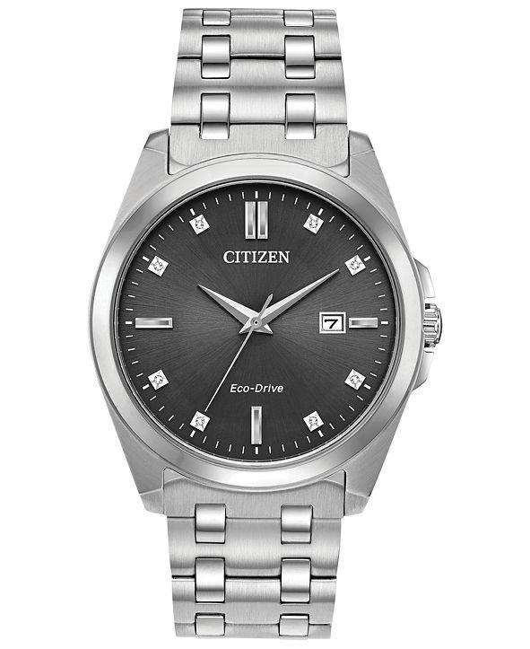 Citizen Eco-Drive Men's Corso Stainless Steel Bracelet Watch 41mm
