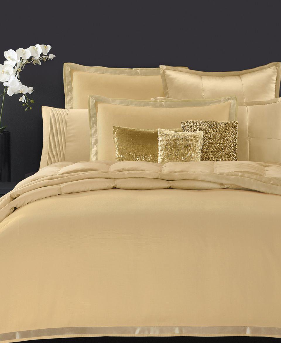 Donna Karan Bedding Modern Classics Gold Leaf 11 X 22 Decorative On - Donna-karans-modern-classics-bedding-collection