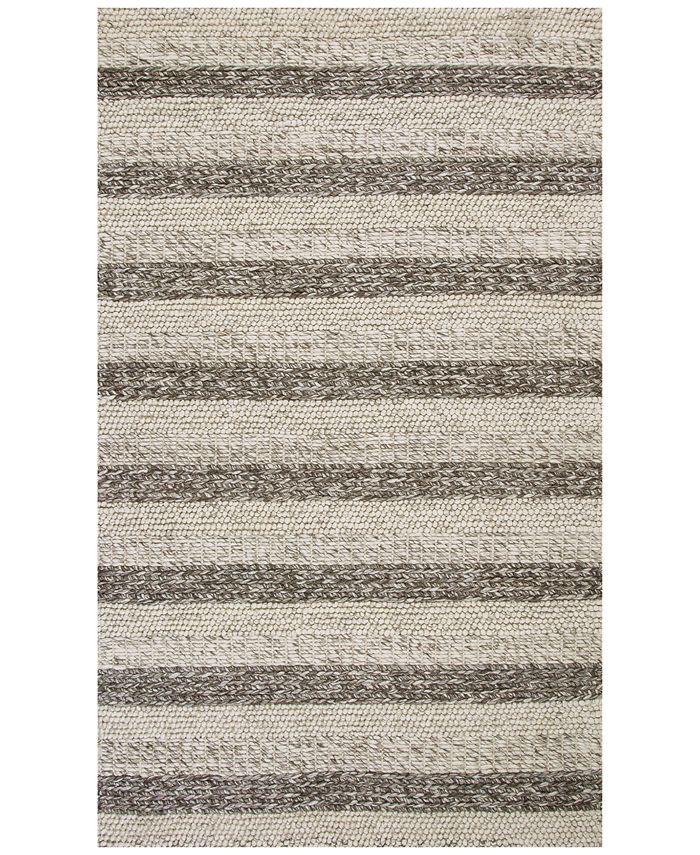 "Kas - Cortico Landscape 6158 Grey/White 7'6"" x 9'6"" Area Rug"