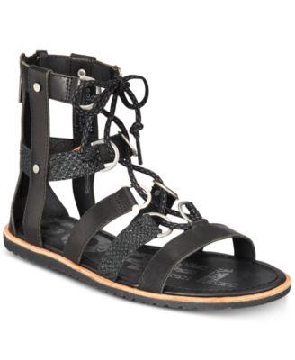 sorel ella lace up sandal