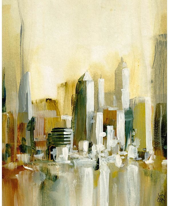 "Creative Gallery Urban Sun Abstract Cityscape 16"" x 20"" Acrylic Wall Art Print"