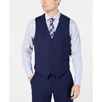 Deals on Perry Ellis Mens Portfolio Slim-Fit Stretch Suit Vests