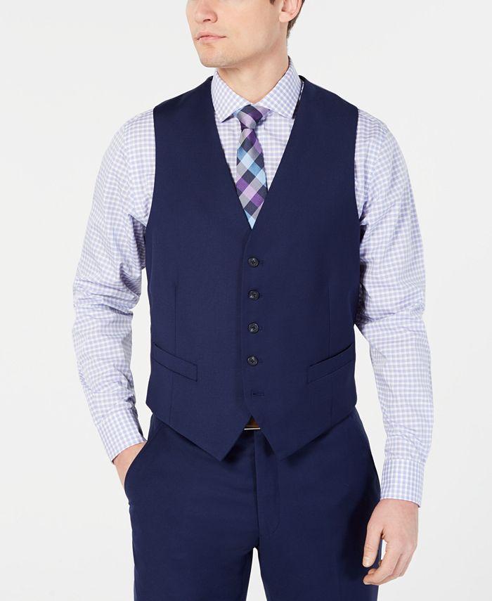 Perry Ellis - Men's Portfolio Slim-Fit Stretch Suit Vests