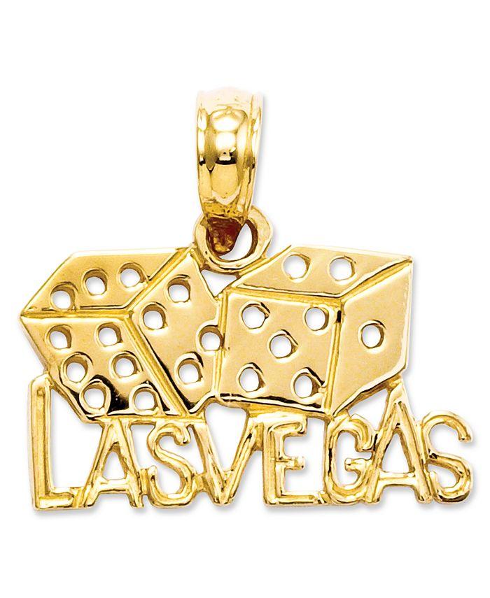 Macy's - 14k Gold Charm, Las Vegas Dice Charm