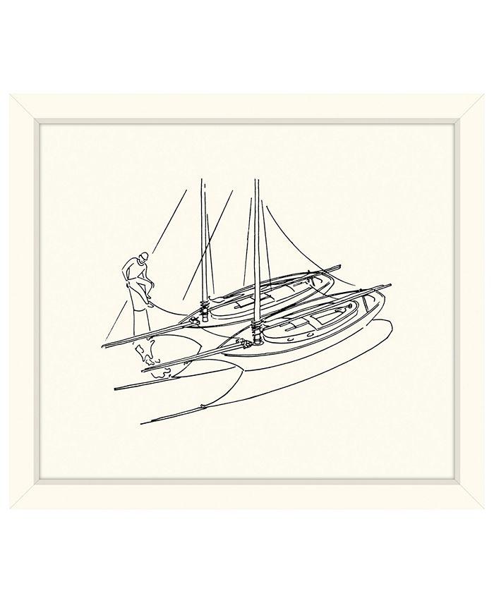 Melissa Van Hise Two Sailboats Sketch Framed Giclee Wall Art 29 X 33 X 2 Reviews Wall Art Macy S
