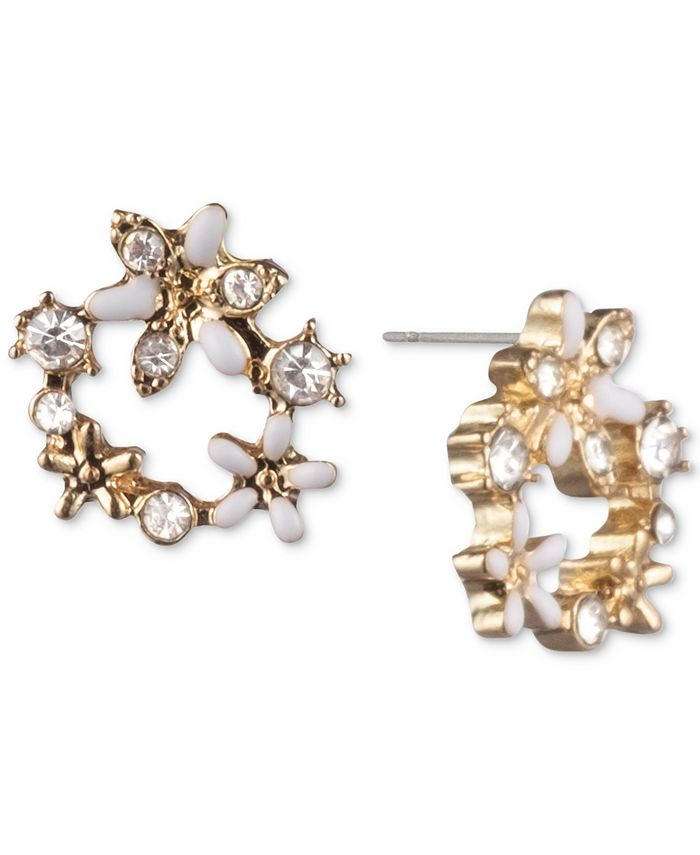 lonna & lilly - Crystal Flower Open Stud Earrings