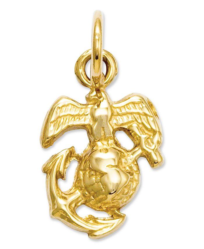 Macy's - 14k Gold Charm, U.S. Marine Corps Charm