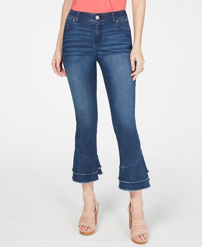 INC International Concepts - Double-Ruffle Hem Curvy Ankle Jeans