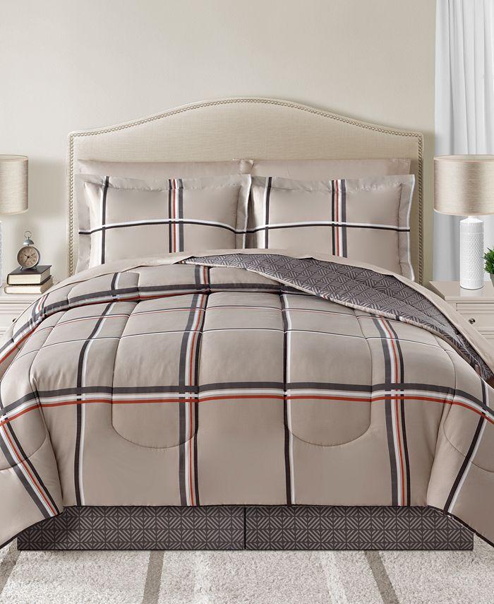 Sunham - Cameron Reversible 8-Pc. Full Comforter Set
