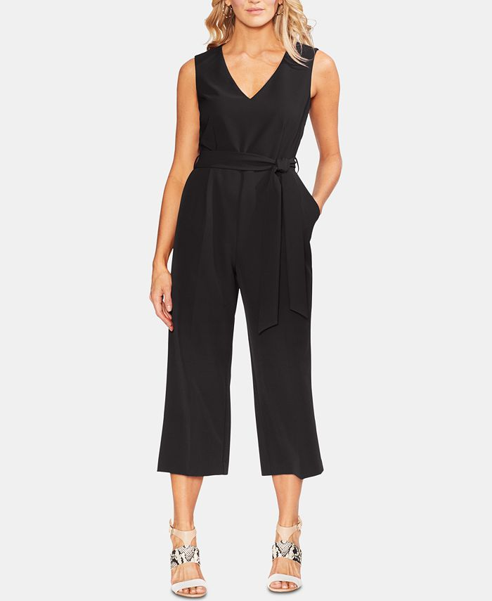 Vince Camuto - Belted Cropped Jumpsuit