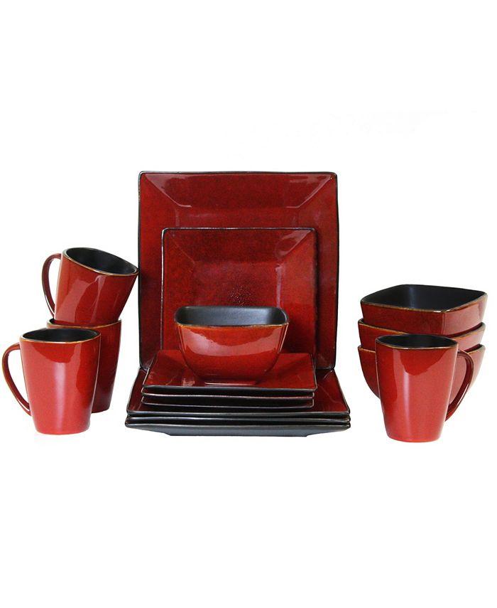 Elama - Harland Loft 16 Piece Modern Premium Stoneware set with Complete Setting for 4