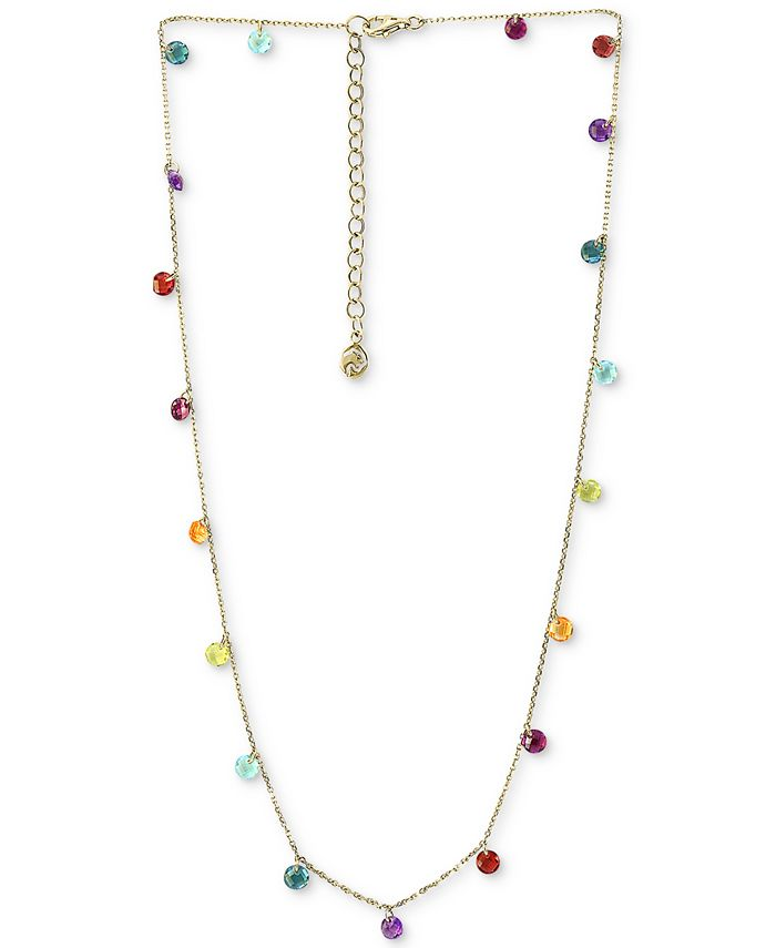 """EFFY Collection - Multi-Gemstone (6 ct. t.w.) Statement Necklace, 18"""" + 2"""" extender, in 14k Gold"""