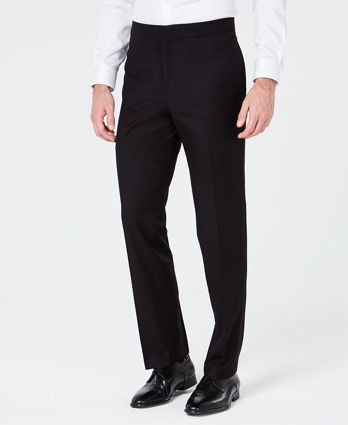 Ryan Seacrest Distinction - Men's Slim-Fit Stretch Black Prom Suit Pants