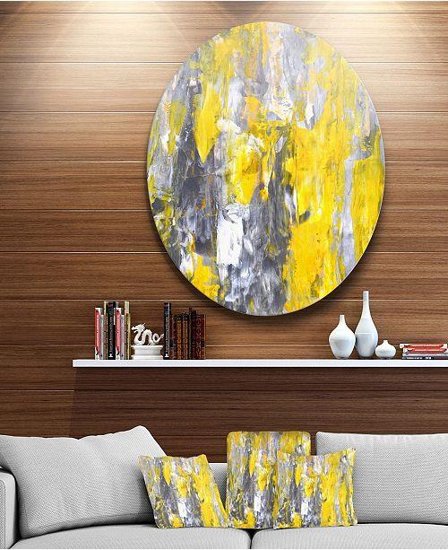 Design Art Designart Grey And Yellow Abstract Pattern Abstract Circle Metal Wall Art 23 X 23 Reviews Wall Decor Home Decor Macy S