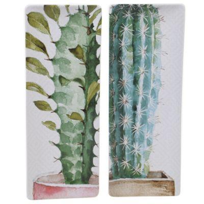 Cactus Verde 2-Pc. Rectangular Platter