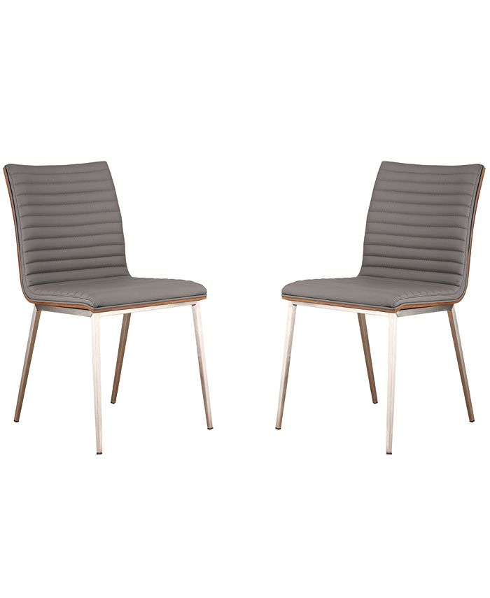 Armen Living - Cafe Dining Chair (Set of 2), Quick Ship
