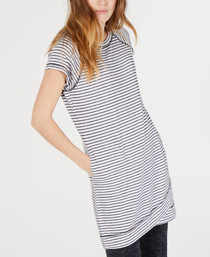 Ideology - Striped Crossover-Hem Tunic