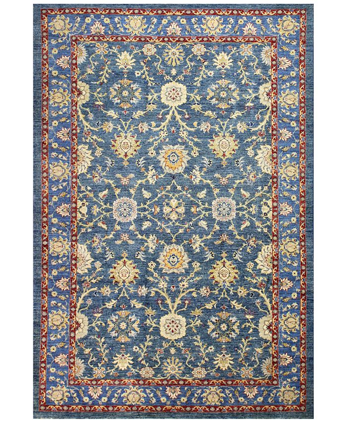 "BB Rugs - Mansehra 620565 Blue 6'6"" x 9'8"" Area Rug"