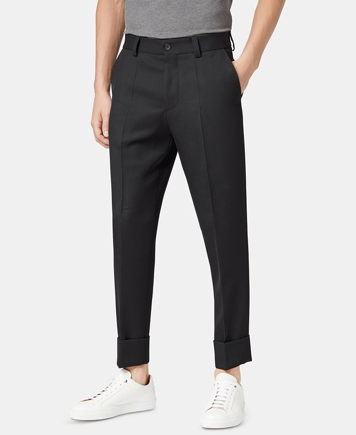 Hugo Boss - Men's Perin Relaxed-Fit Cropped Wool Trousers