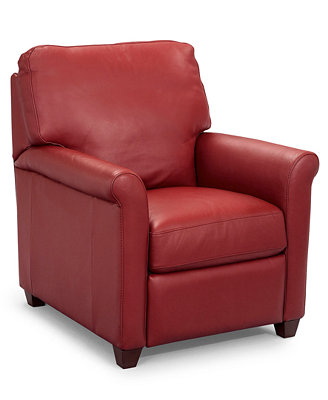 Pavia Leather Club Recliner Chair - Furniture - Macy's