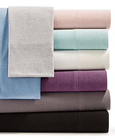 Martha Stewart Essentials Jersey 4-Pc. Sheet Sets, Created for Macy's