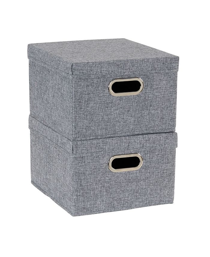 Household Essentials - 2-Pc. Graphite Storage Box Set