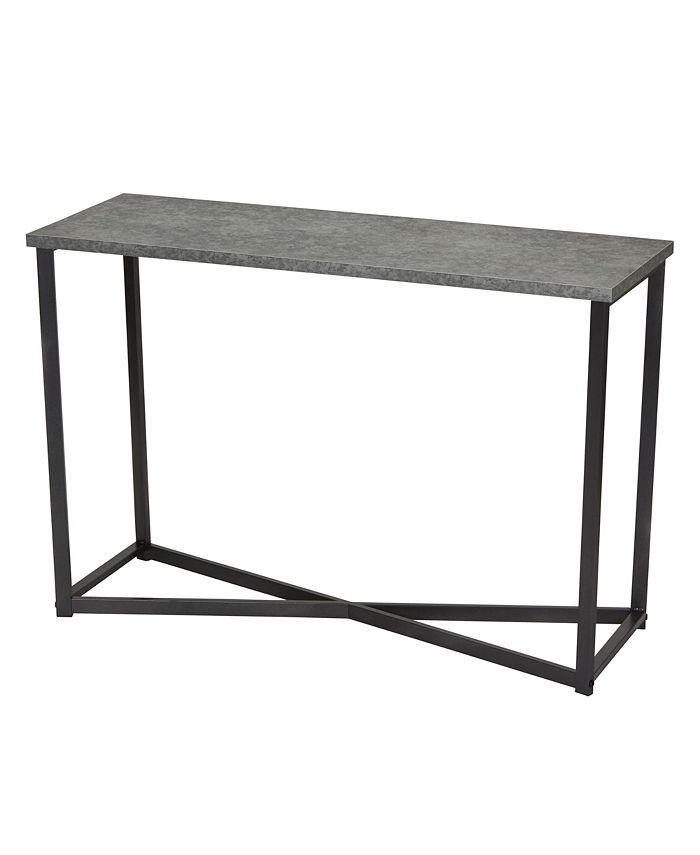 Household Essentials - Slate Faux Concrete Sofa Table
