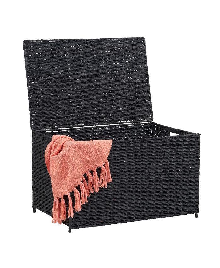 Household Essentials - Large Wicker Storage Chest