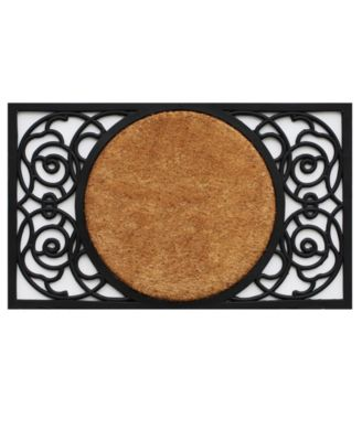 "Armada Circle 18"" x 30"" Coir/Rubber Doormat"