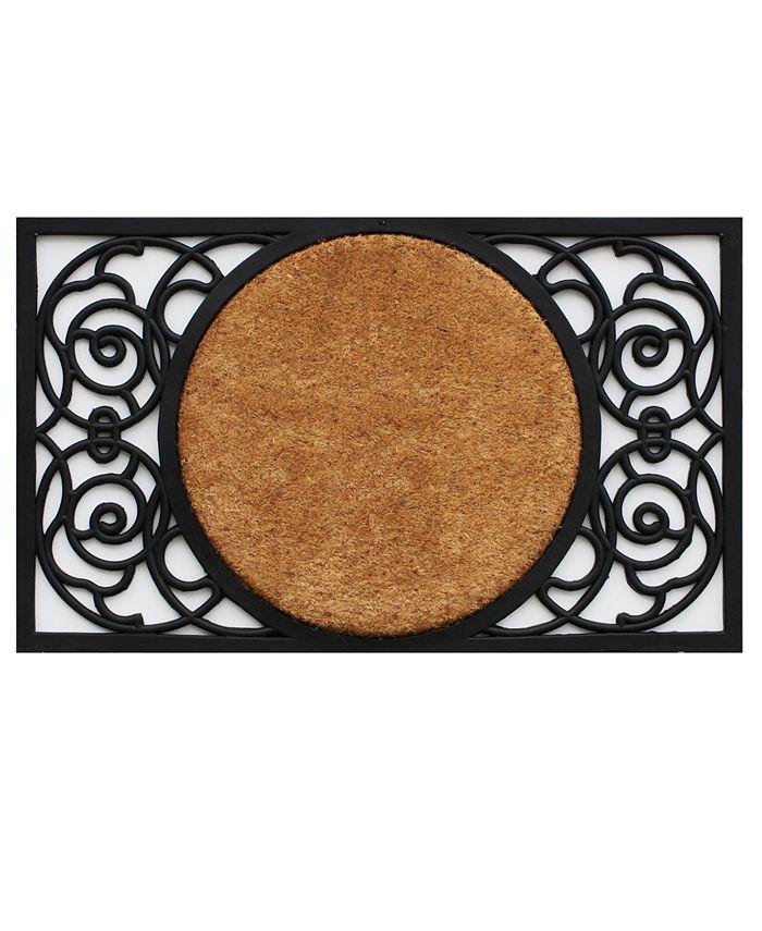 """Home & More - Armada Circle 18"""" x 30"""" Coir/Rubber Doormat"""
