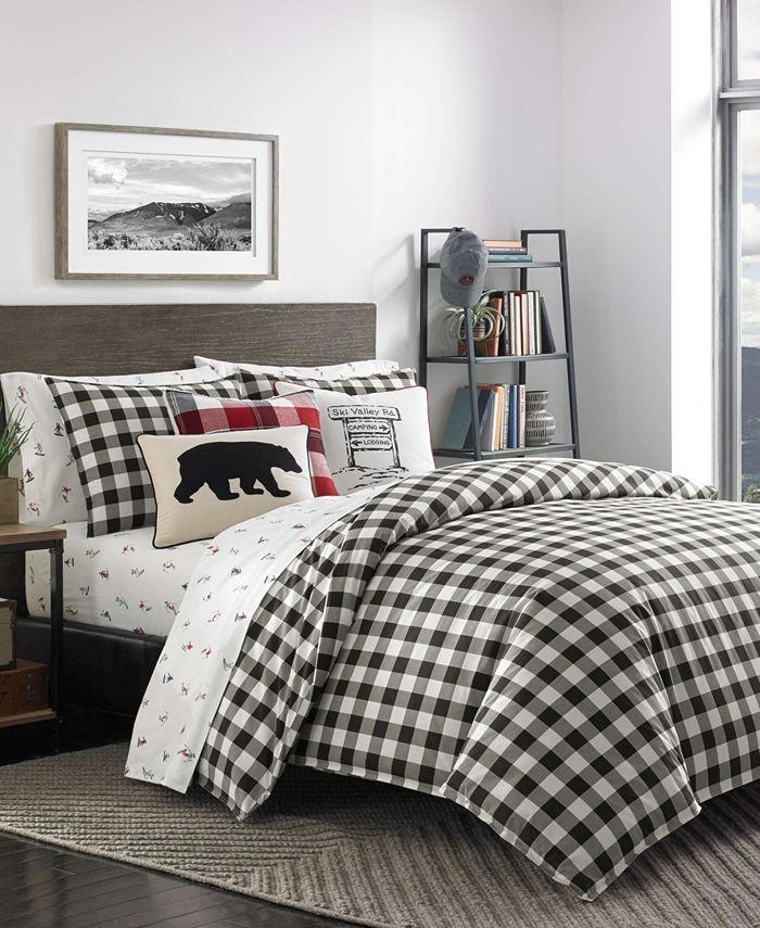 Eddie Bauer - Mountain Plaid Black Comforter Set, Twin
