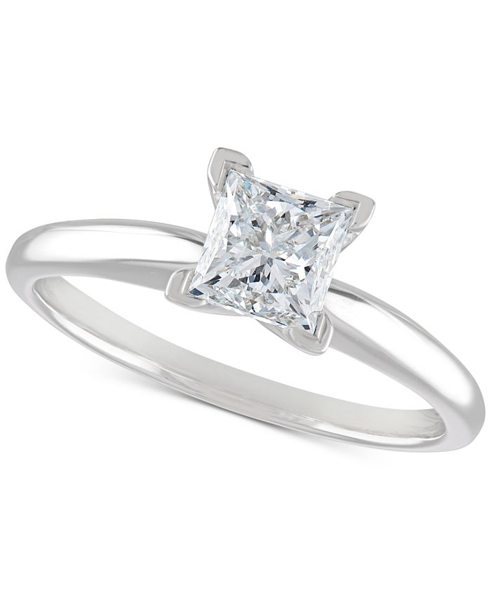 Macy's - Certified Diamond Engagement Ring (1 ct. t.w.) in 14k White Gold