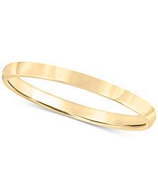 14k Gold 2mm Wedding Band