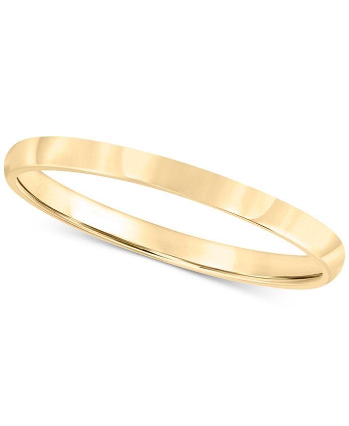 Macy's - Men's 14k Gold Ring, 2mm Wedding Band